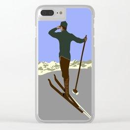 Each mountain peak you ascend Clear iPhone Case