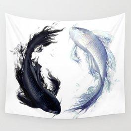 Yin Yang Carps Wall Tapestry