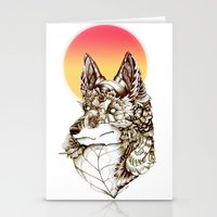 kitsune Stationery Cards featuring Kitsune by South Spire Seven
