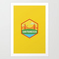SAN FRANCISCO (I LOVE USA SERIE) Art Print