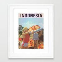 indonesia Framed Art Prints featuring Indonesia  by Mariano Peccinetti