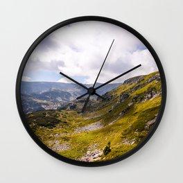 Beautiful mountain view Wall Clock