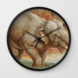Vintage Illustration of an Elephant (1890) Wall Clock