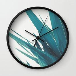 Yucca Leaves II Wall Clock