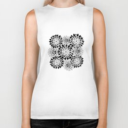 Black and White Burst Biker Tank