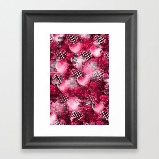 Light Bulb Hearts Series (red) Framed Art Print