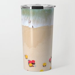 When the Man paints with the Sea Travel Mug