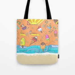 Summer Ice Creams and Popsicles Tote Bag