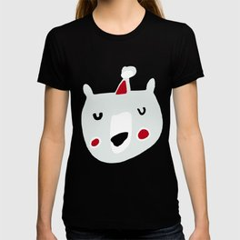 Cute holiday bear blue T-shirt