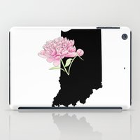 indiana iPad Cases featuring Indiana Silhouette by Ursula Rodgers