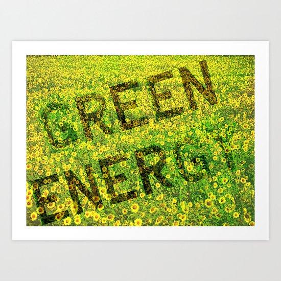 Green Energy Concept Art Print