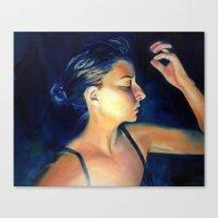 caitlin hackett Canvas Prints featuring Caitlin by Caitlin McCourt