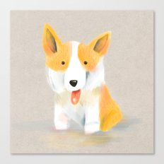 Corgi love Canvas Print