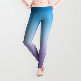 Hydrangea Blue And Purple Ombre Leggings