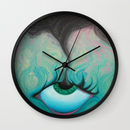 Starry-Eyed Wall Clock