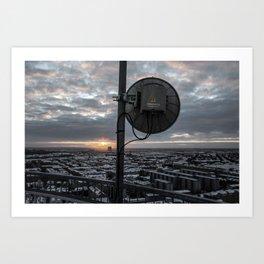 Sattelite Sunrise Art Print