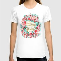 waldo T-shirts featuring The Earth Laughs in Flowers – Pink & Gold by Cat Coquillette