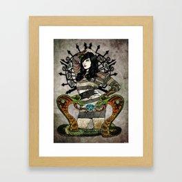 Cobra Carbon Framed Art Print