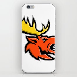 Angry Moose Head Mascot iPhone Skin