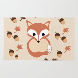 Fox in autumn Rug