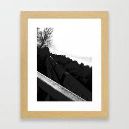 The Train//b&w Framed Art Print