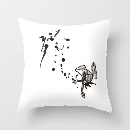 Pensive Primate. Throw Pillow