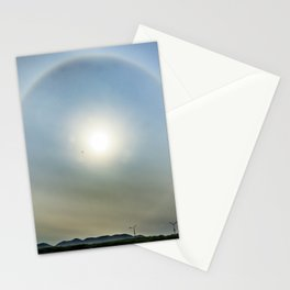 Plane in the Sun circle Stationery Cards