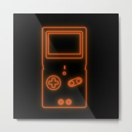 Neon Game Boy Advance SP Metal Print