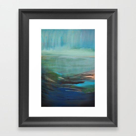 la baie Framed Art Print