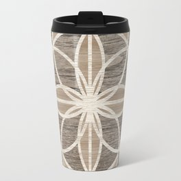 Kaleidoscope in Wood Travel Mug