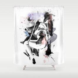 Shibari - Japanese BDSM Art Painting #12 Shower Curtain