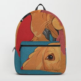 Icons of the Dog Park: Golden Retriever Design in Bold Colors for Pet Lovers Art Print Backpack