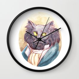 Gentleman Cat Wall Clock