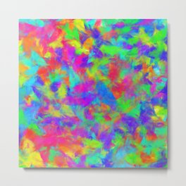 Paint Splatters Metal Print