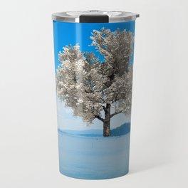 Tree in blue Travel Mug