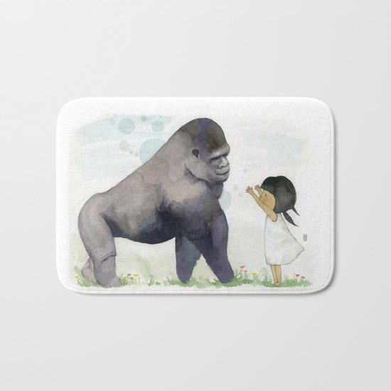 Hug me , Mr. Gorilla Bath Mat