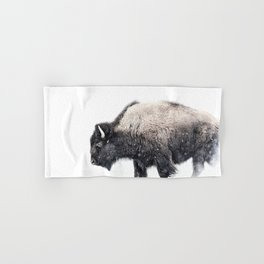 Bison in Yellowstone National Park Hand & Bath Towel