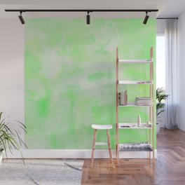 Neon Green Marble Wall Mural