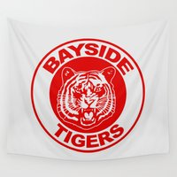 tigers Wall Tapestries featuring Saved by the bell: Bayside Tigers by dutyfreak