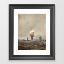 These cities burned my soul Framed Art Print