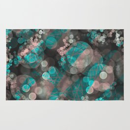 Bubblicious - Teal Pink & Taupe Palette Rug