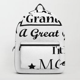 Grandma For Women Funny - Best Great Grandma Gifts Backpack