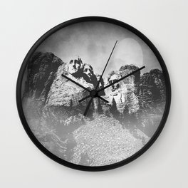 Rushmore at Night Wall Clock