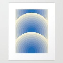 005 -  Blue rainbow Art Print