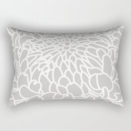 Gray Chrysanth Rectangular Pillow
