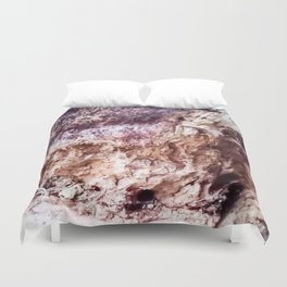 Woodpecker's worksite Duvet Cover