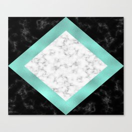 Mint marble Canvas Print