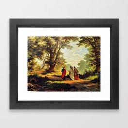 Road To Emmaus Framed Art Print