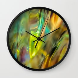 Leaves on the Grass Wall Clock