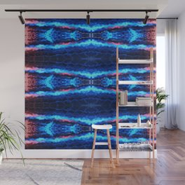 Abstract Blue Lines Wall Mural